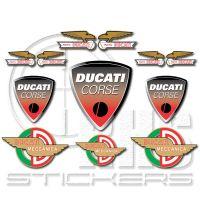 Ducati комплект стикери 30 х 21 см