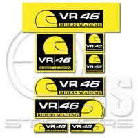 Valentino Rossi 46 MotoGP комплект стикери 14 х 10 см