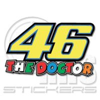 Valentino Rossi 46 MotoGP стикер 10 х 6 см VR03
