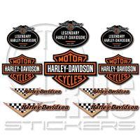 Harley Davidson комплект стикери 30 х 21 см