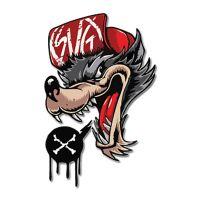 Wolf X стикер 10 х 6