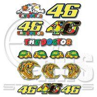 Valentino Rossi 46 MotoGP комплект стикери 28 х 39 см V