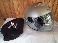 Nolan N43 с тъмни очила мото шлем каска сив 2018