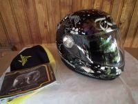 Scorpion Exo-1000 с помпа и тъмни очила мото шлем каска