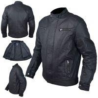 Текстилно мото яке A-PRO PHASER BLACK