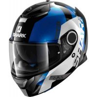 Каска SHARK SPARTAN APICS BLACK/WHITE/BLUE