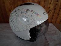 HJC IS-35 Flower с тъмни очила мото шлем каска