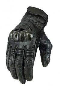 Къси кожени мото ръкавици MAD BIKE,размер S