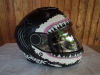 Shark Spartan Бяла Акула с тъмни очила мото шлем каска