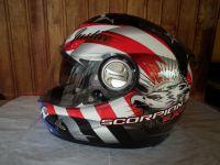 Scorpion Exo-1000 Air Freedom с тъмни очила красив шлем