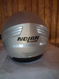 Nolan N43 с тъмни очила мото шлем каска сив