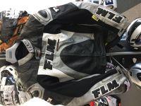 Кожено мото яке FLM RACE TECH,размер 52-L,гърбица,като