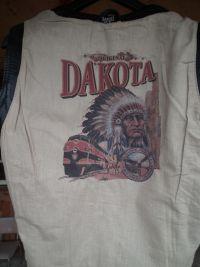 Dakota кожено елече (жилетка) за мотор (чопър, круйзър,