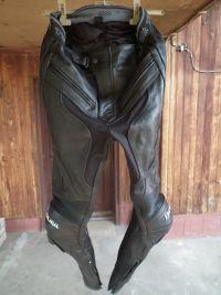 Tschul кожен мото панталон със слайдери